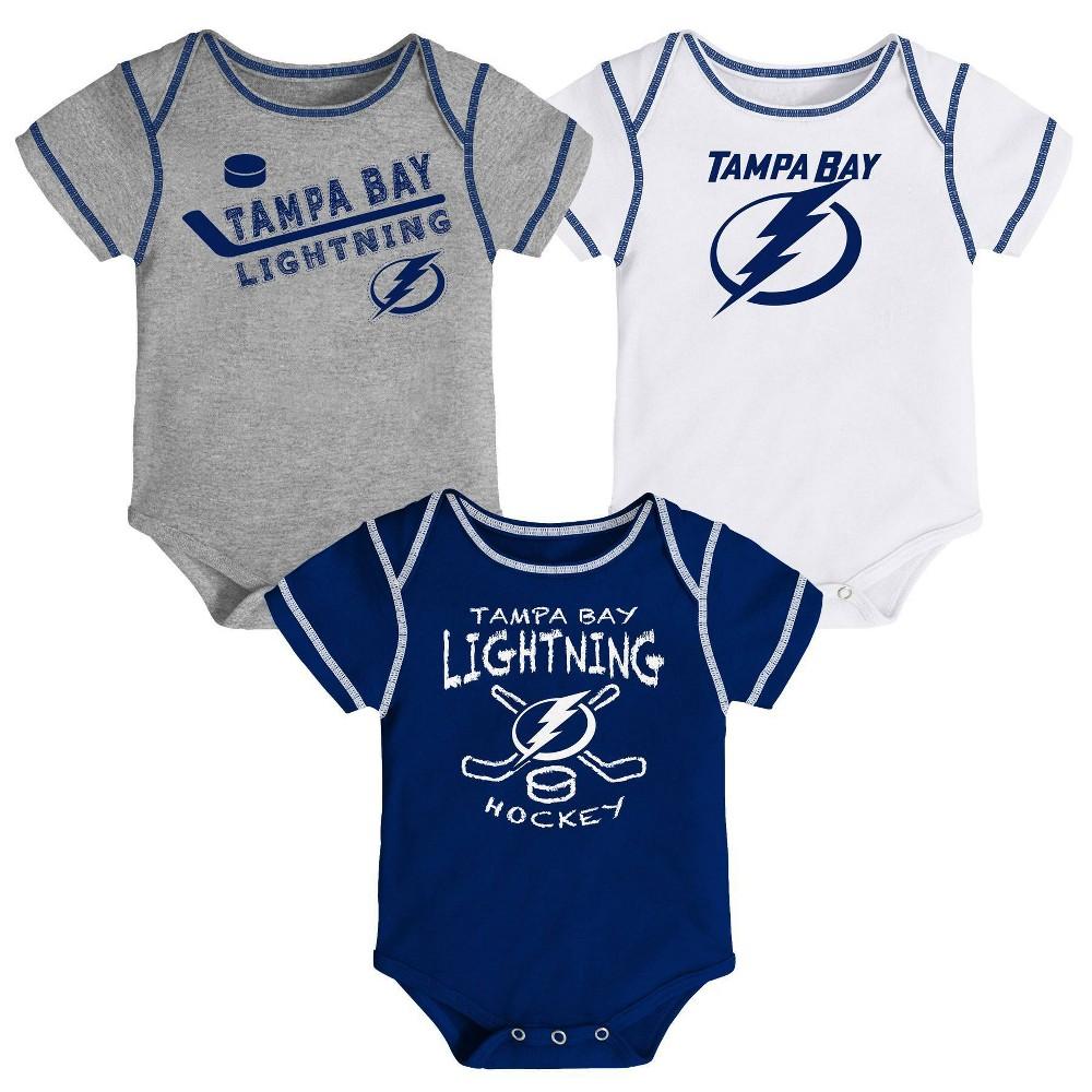 Nhl Tampa Bay Lightning Baby Boys 39 Game Winner Bodysuit Set 3pk 3 6m