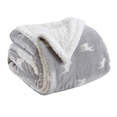 Great Bay Home Reversible Velvet Plush Sherpa Blanket