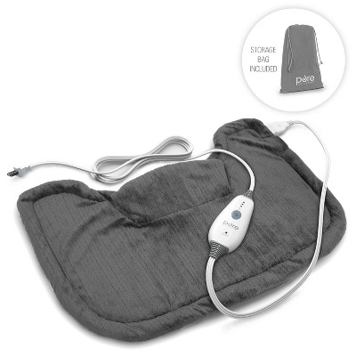 "Pure Enrichment PureRelief Neck and Shoulder Heating Pad  - 14"" x 22"" - Charcoal Gray"