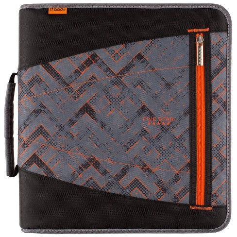 """2"""" Ring Zipper Binder with File Folders Gray Maze - Five Star - image 1 of 4"""