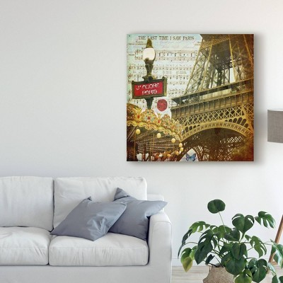 "14"" x 14"" Eiffel Romance Vi by Sandy Lloyd - Trademark Fine Art"