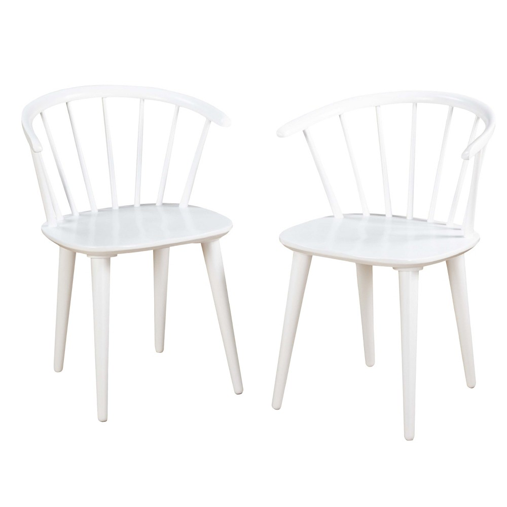 Set of 2 Dining Chair White - Target Marketing System