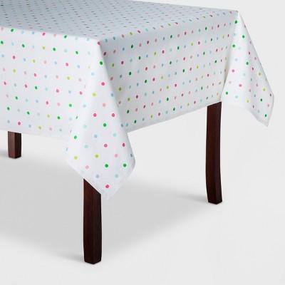 84 x60  Dot Textile Tablecloth White - Spritz™