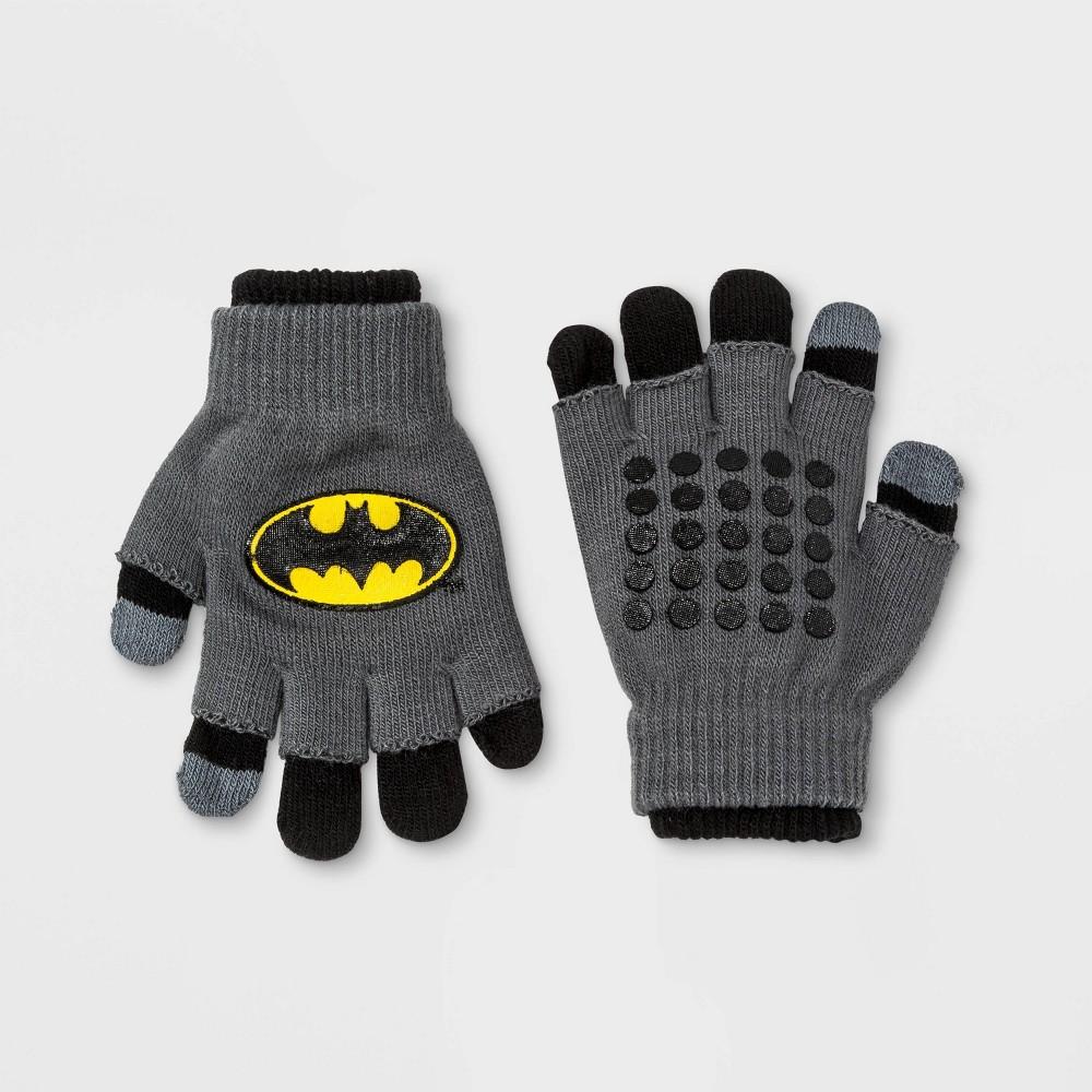 Image of Boys' Batman Gloves - Black One Size, Boy's, Gray