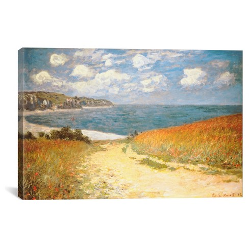 Path Through The Corn At Pourville by Claude Monet Canvas Print - image 1 of 2