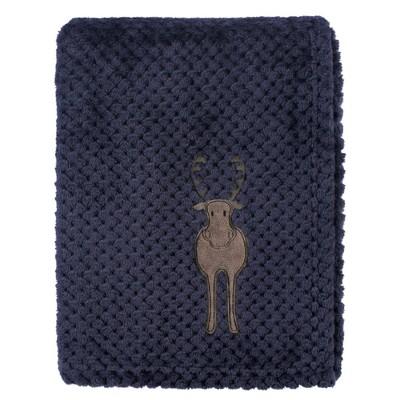 Hudson Baby Unisex Baby Plush Waffle Blanket - Moose One Size