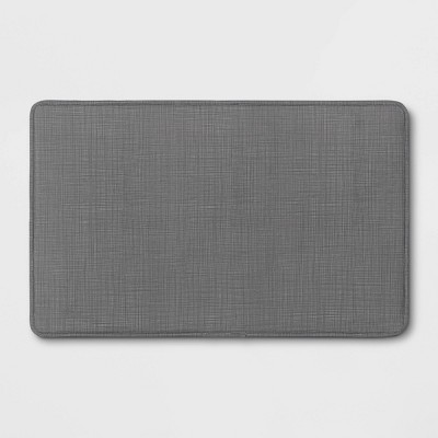 "32"" x 20"" Comfort Kitchen Rug Gray - Made By Design™"