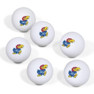 NCAA Kansas Jayhawks Table Tennis Balls 6pk