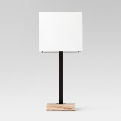 Wood Square Base Table Lamp Black - Project 62™