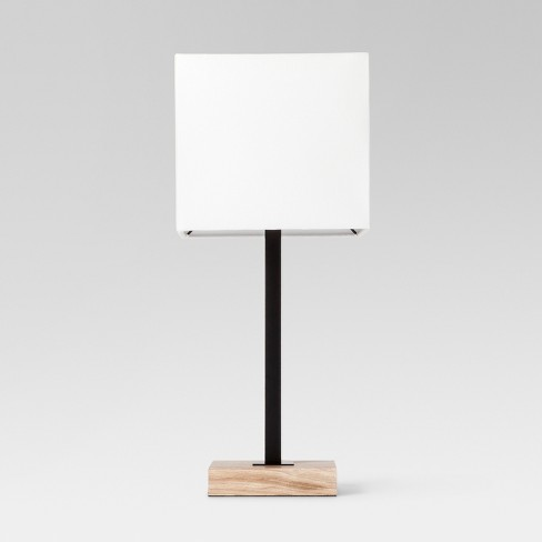 Wood Square Base Table Lamp Black Project 62 Target