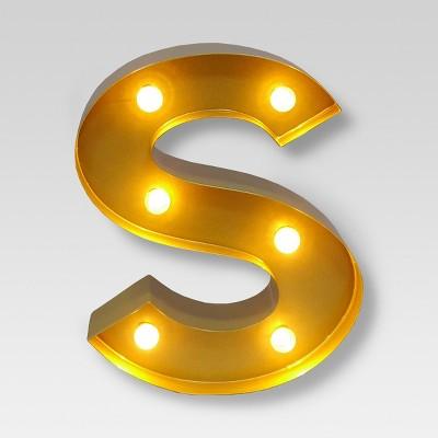 Marquee Letter Light Brass S - Threshold™