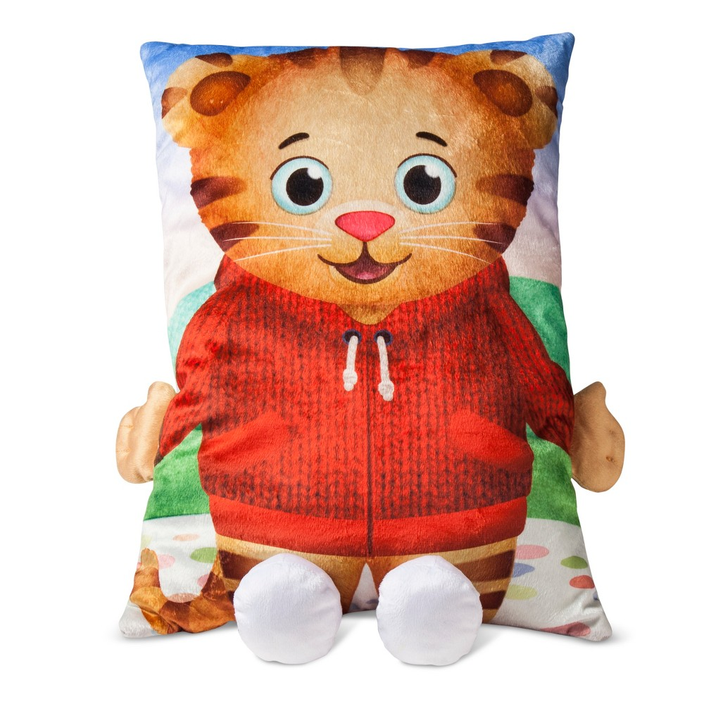 "Image of ""Daniel Tiger's Neighborhood Red & Brown Pillow Buddy (20"""" X 14""""), Brown Red"""
