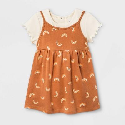 Grayson Mini Baby Girls' Rainbow Dress - Orange 12M