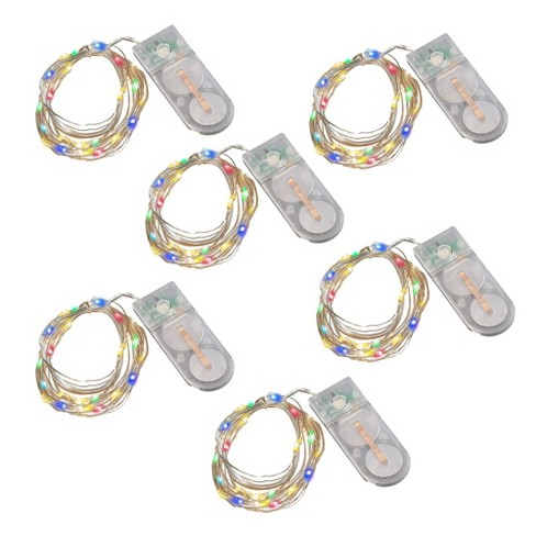 6ct Battery Operated LED Fairy String Lights Multicolored - LumaBase - image 1 of 4