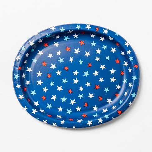 8ct 4th of July Star Toss Oval Platter - Sun Squad™ - image 1 of 2