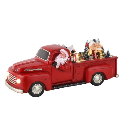 """Mr. Christmas Animated Red Truck with Santa Animated Musical Christmas Decoration - 14"""""""
