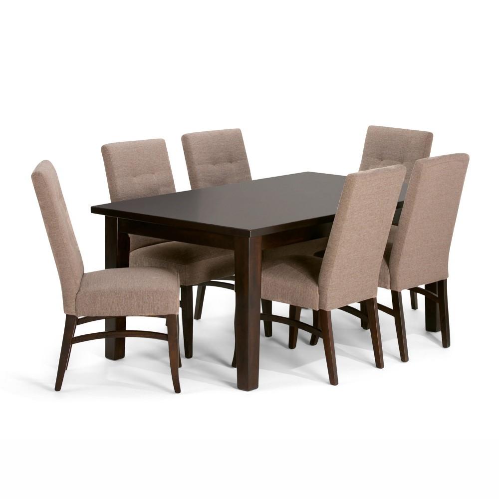 Hawthorne Solid Hardwood 7pc Dining Set Fawn Brown - Wyndenhall