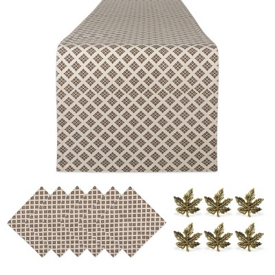 """14""""x72"""" Table Collection Autumn Leaves - Design Imports"""