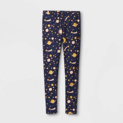 Girls' Moon and Stars Leggings - Cat & Jack™ Navy