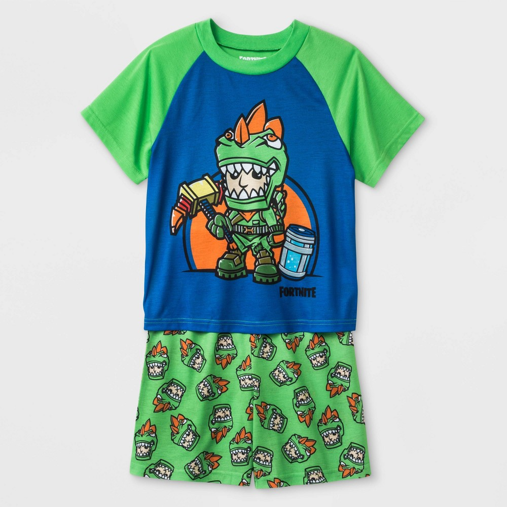 Image of Boys' Fortnite 2pc Pajama Set - Green/Blue 10, Boy's, Blue/Green