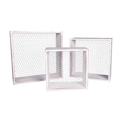 Gallerie II French Wire Wall Box Set of 3