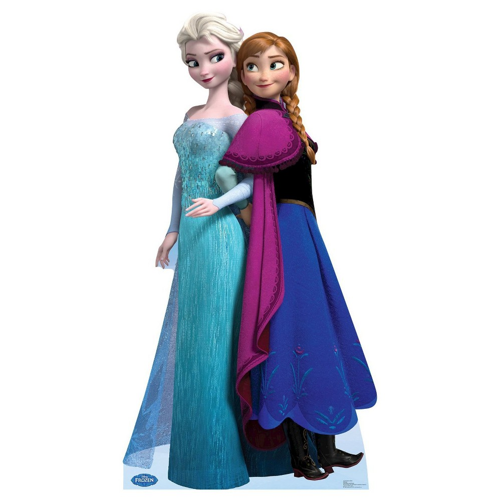 Image of Frozen Elsa and Anna Standup, Multi-Colored