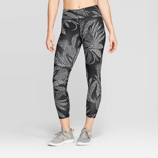 Women's Mid-Rise Activewear Leggings - JoyLab™ Black L