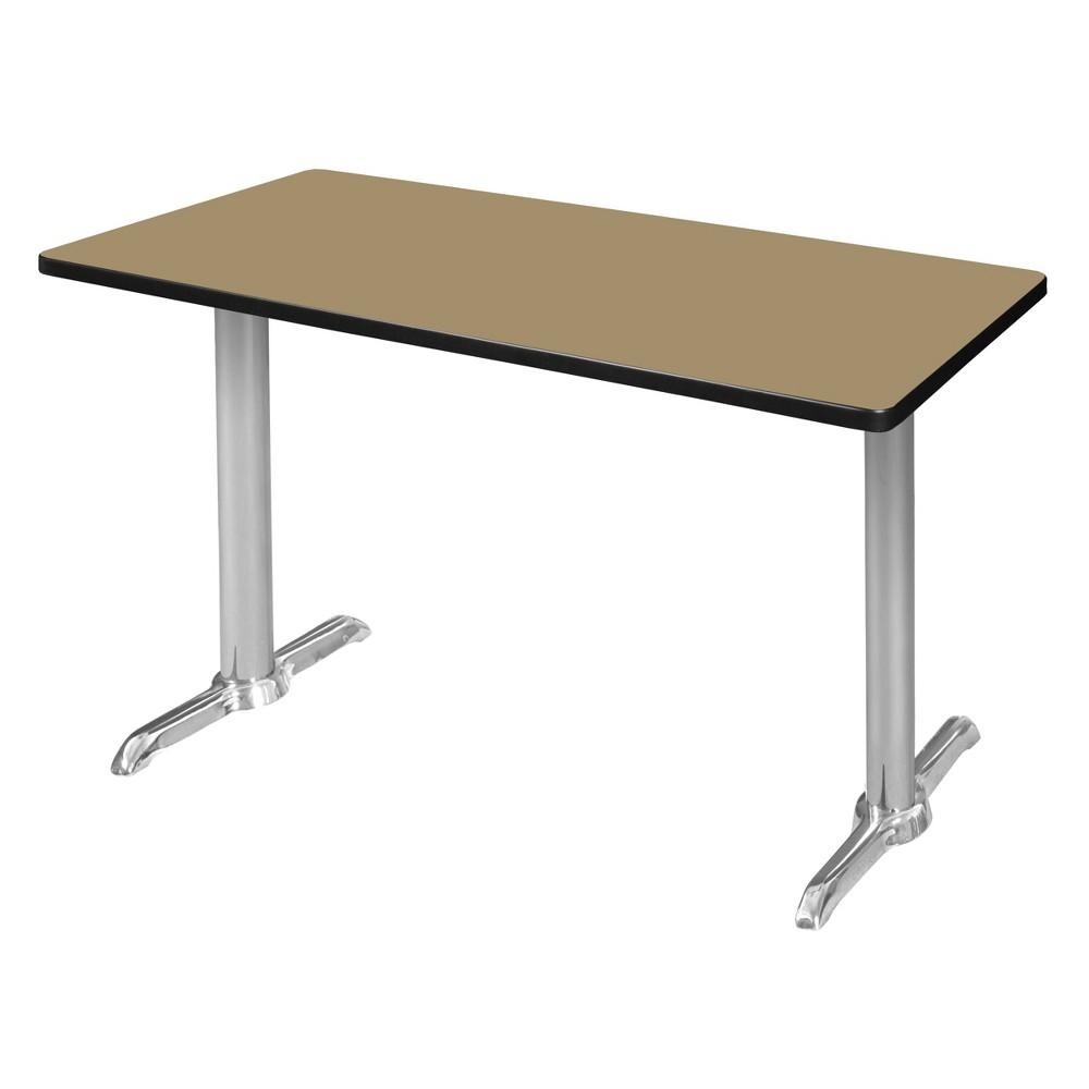 48 Via Training Table Gold/Chrome (Gold/Grey) - Regency