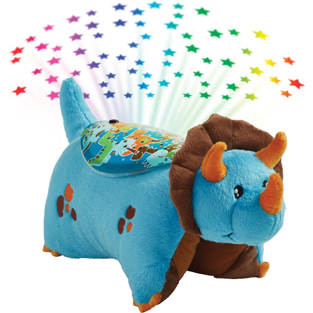 Image of Sleeptime Lites Dinosaur Plush Night Light Blue - Pillow Pets
