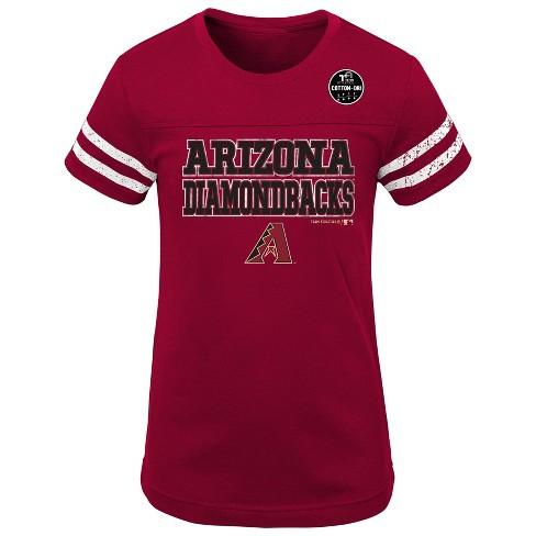 MLB Arizona Diamondbacks Girls' Double Play T-Shirt - image 1 of 1