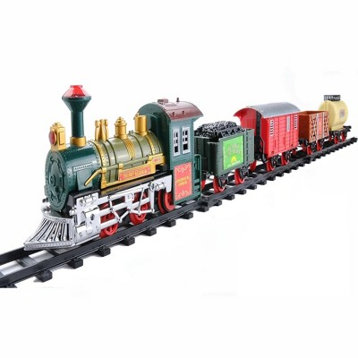 Northlight 16-Piece Battery Operated Lighted and Animated Continental Express Train Set with Sound