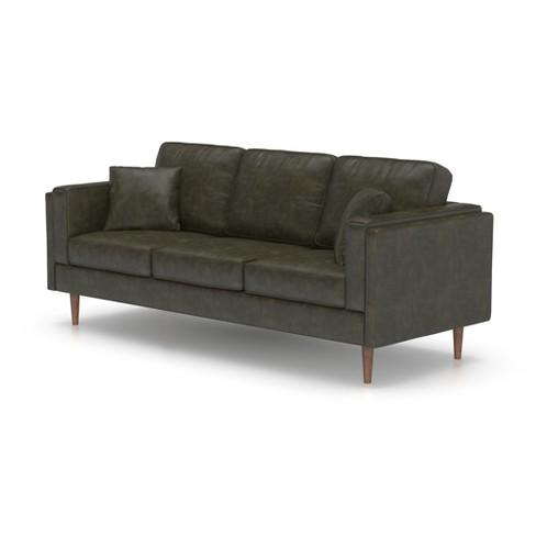 Terrific Logan Modern Faux Leather Sofa Honey Tan Af Lifestlye Cjindustries Chair Design For Home Cjindustriesco