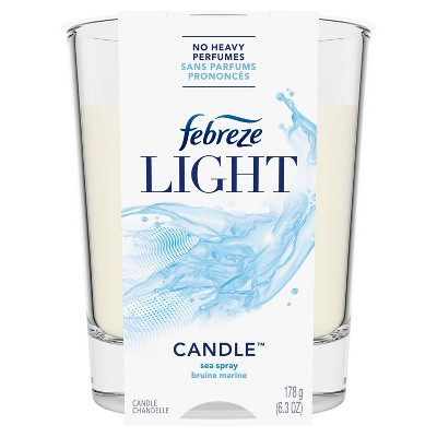 Febreze Light Odor-Eliminating Air Freshener Candle - Sea Spray - 1ct