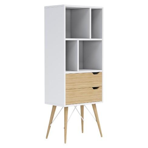 "54"" Blythe 2 Drawer Sectional Shelf White - Jamesdar - image 1 of 4"