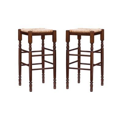 Set of 2 Josefina Backless Barstools Walnut - Linon