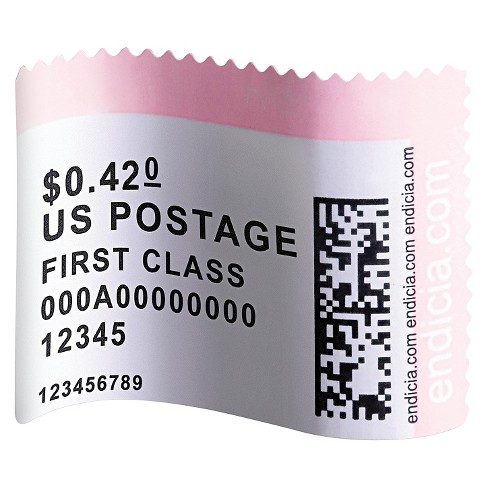 DYMO® LabelWriter Postage Stamp Labels, 1-5/8 x 1-1/4, White, 200/RL - image 1 of 1