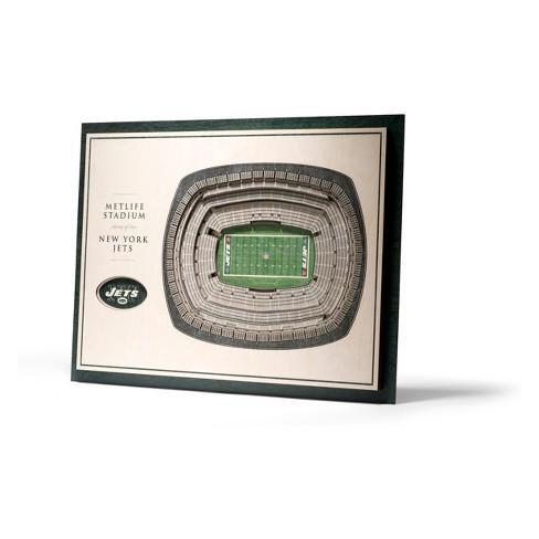 NFL New York Jets 5-Layer Stadiumviews 3D Wall Art - image 1 of 4