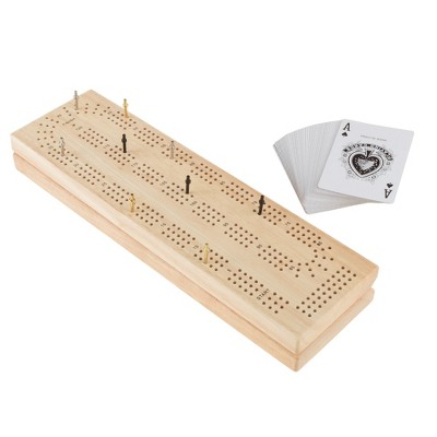 Toy Time Kids' Wood Cribbage Board Game Set
