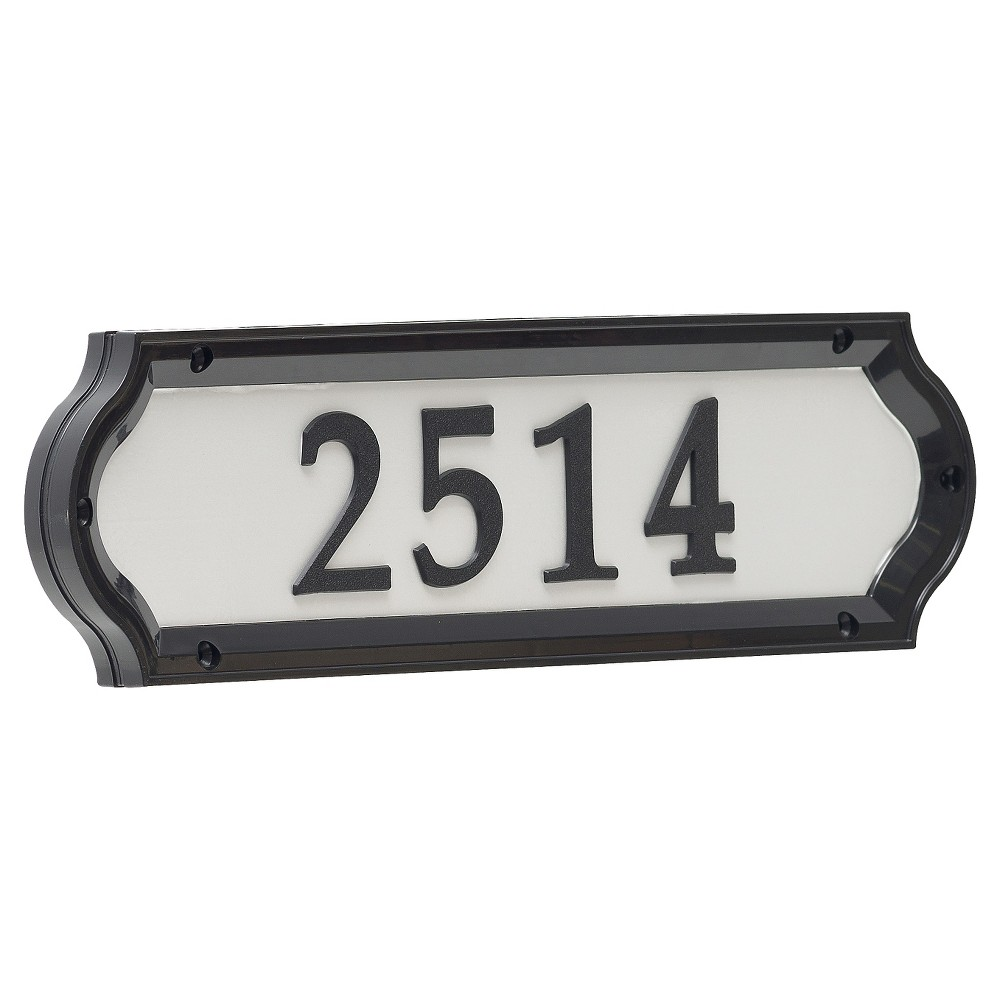 "Image of ""4.5"""" Nite Bright Richfield Home Address Sign - Whitehall Products, Black"""