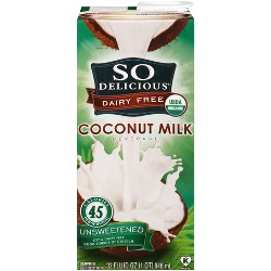 So Delicious Dairy Free Coconut Milk Unsweetened - 32 fl oz