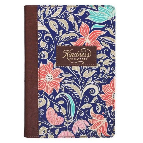 Journal Classic Floral Kindness Matters - (Leather_bound) - image 1 of 1