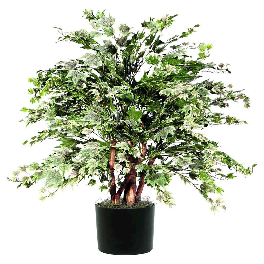 Extra Full Silver Maple Bush in Black Plastic Pot (4ft) - Vickerman, Multi-Colored