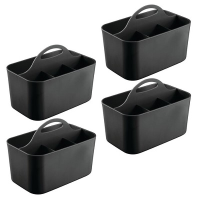 mDesign Storage Caddy Tote for Desktop Office Supplies, Small, 4 Pack