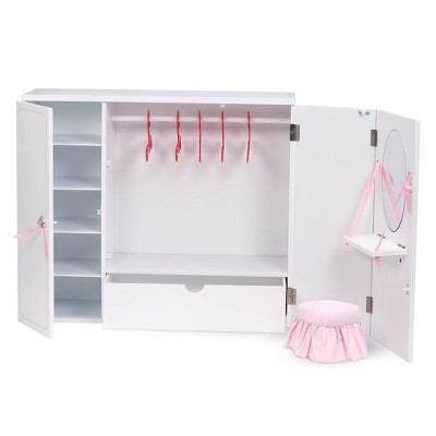 "Our Generation Wooden Wardrobe - Closet for 18"" Dolls"