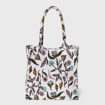 Floral Print Boxy Tote Handbag - Universal Thread™