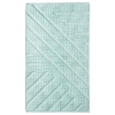 Geo Stripe Bath Mat 20 X34 Moonlight