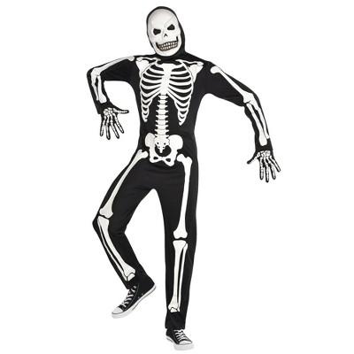 Adult X-Ray Skeleton Halloween Costume One Size