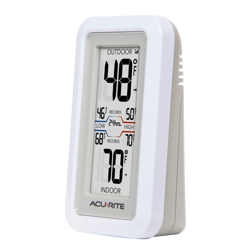 Digital Weather Thermometer With Indoor Outdoor Sensor Acurite