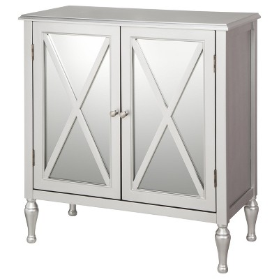 Hollywood Mirrored Accent Cabinet Silver - Blu Dot