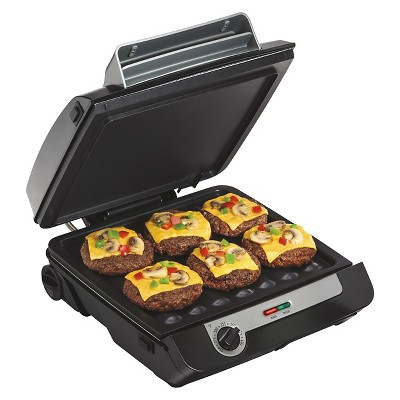 "Hamilton Beach 3-in-1 MultiGrill 100"" Griddle/Indoor Grill - 25600"